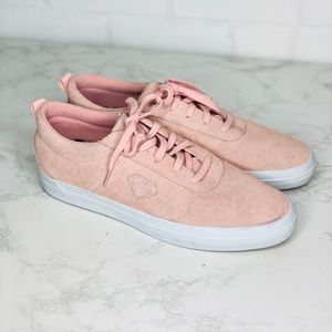 Diamond Supply Co Icon Pink Suede Sneakers